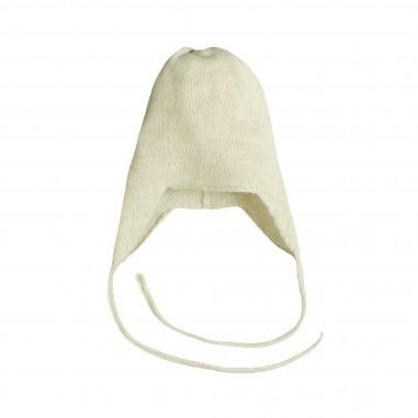 Giorgetti Cuffia peruviana cashmere per neonati MB437-Beige 22281599566c