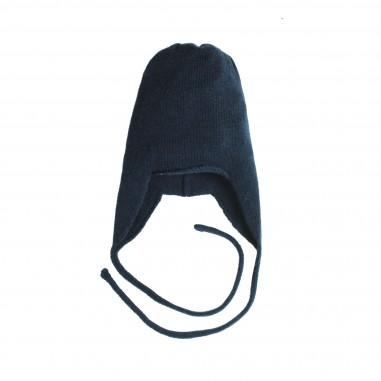 Giorgetti Cappello peruviano blu in cashmere per neonati MB437-Blu